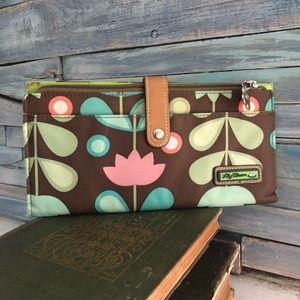 Lily Bloom Brown Flower Wallet